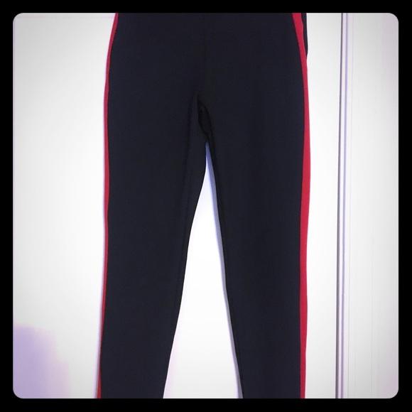 cfa51d52 Zara Black Pants/Leggings w/Red Side Stripe. M_5a933b4236b9de500e72cea8